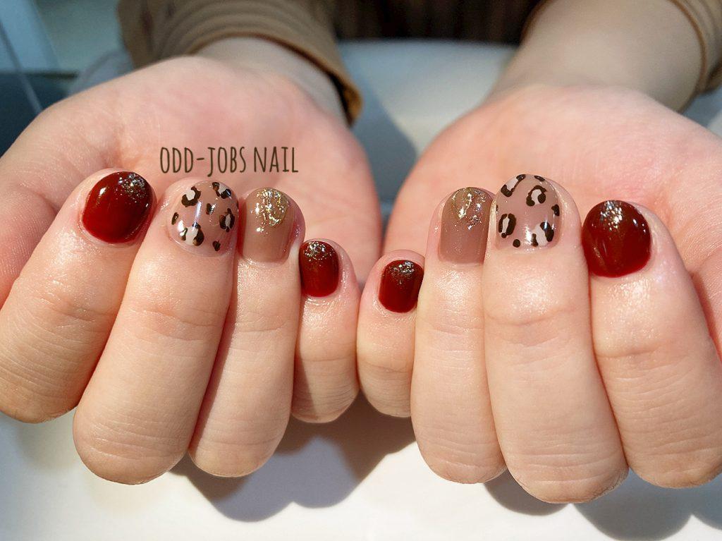 レオパード柄nail